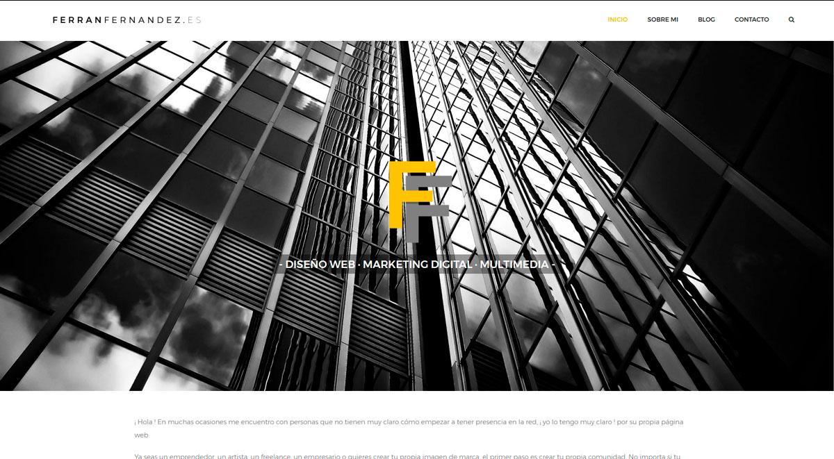 ferranfernandez.es - Web imagen personal Ferran Fernández