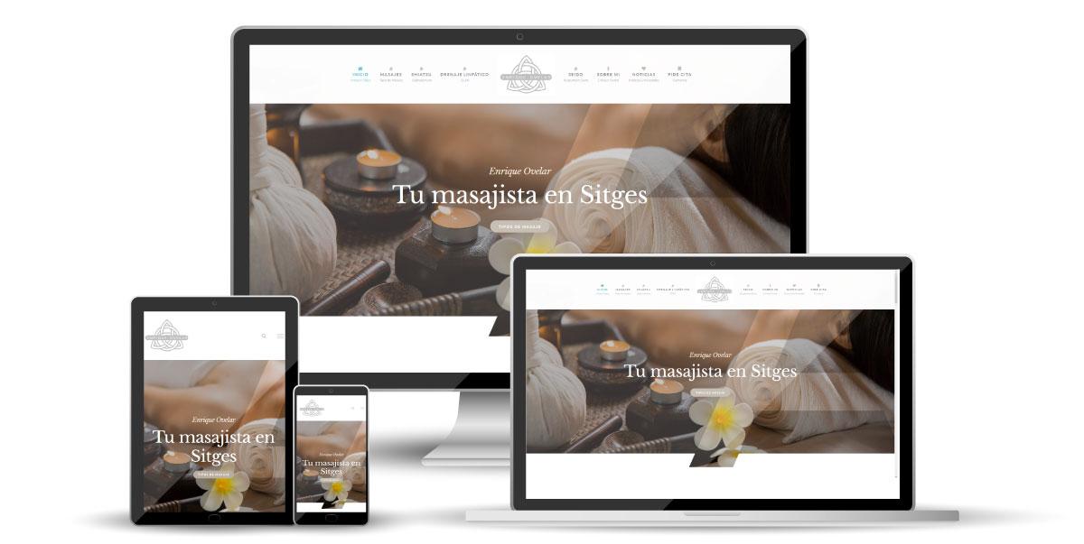 Diseño página Web Masajista Sitges Enrique Ovelar - Imagen de marca