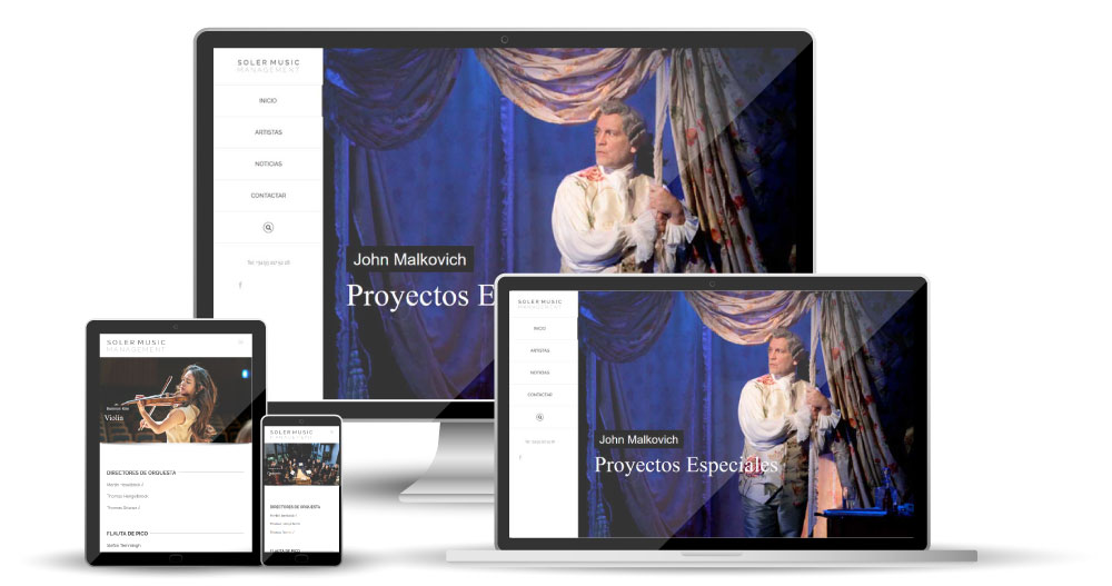 Diseño Página Web Barcelona - Soler Music Management